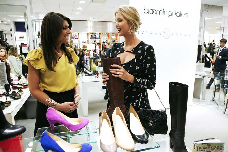 The Ivanka Trump footwear collection launch at Bloomingdale's in New York  City on Oct. 5