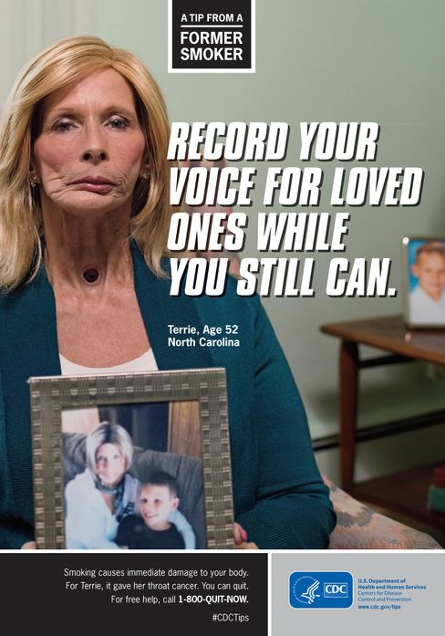 One of the CDC's original ads. Terrie Hall died in 2013.