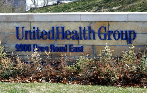A Sign Sits Outside The UnitedHealth Group Inc Headquarters
