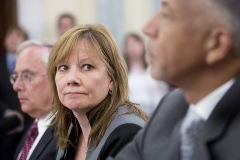 Mary Barra, chief executive officer of General Motors.
