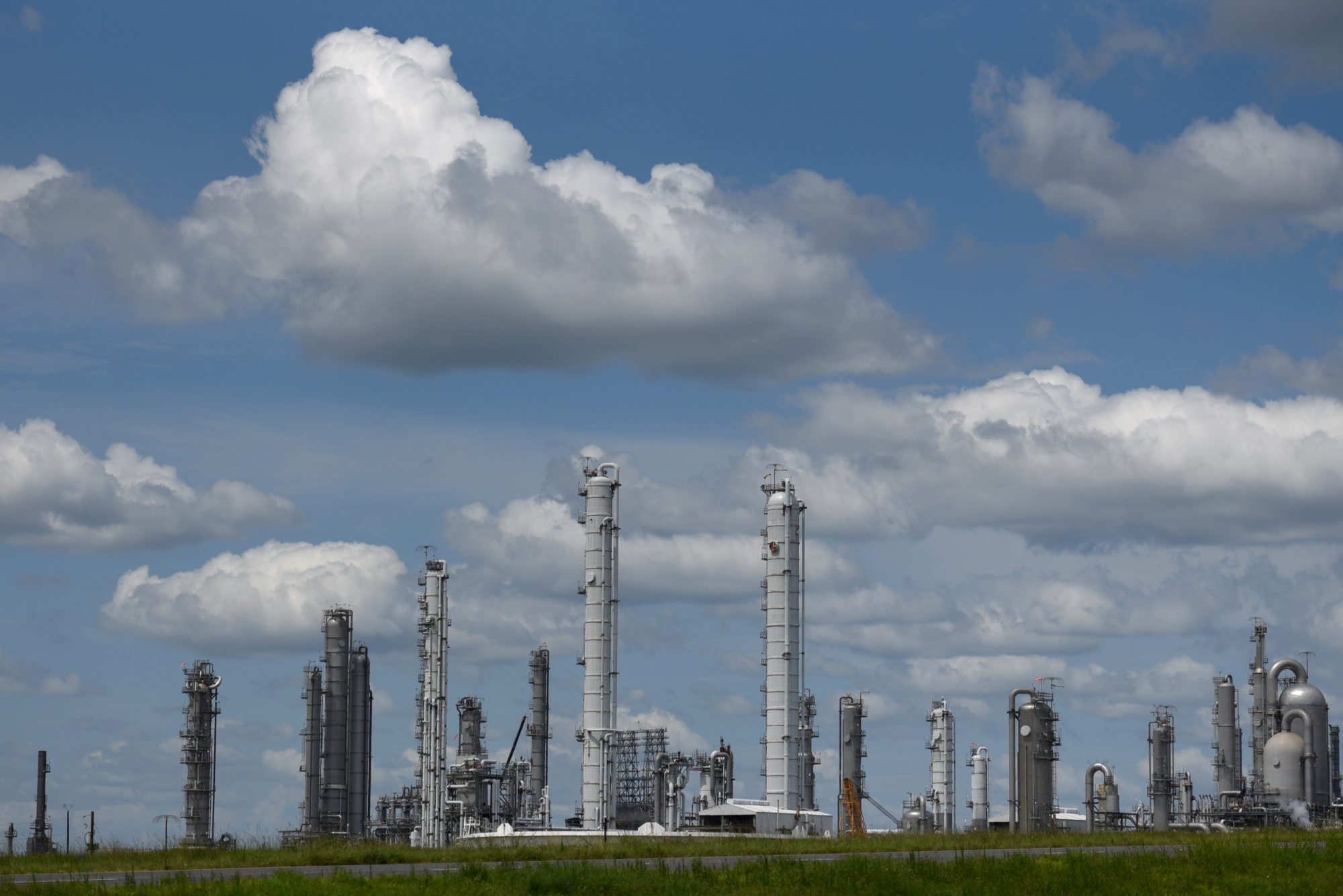 Total SE refinery in Port Arthur, Texas.