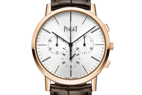 This year, Piaget developed an ultrathin chronograph.