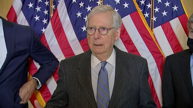 Stimulus Standoff: McConnell Says GOP Will Fight Biden Plan in Every Way