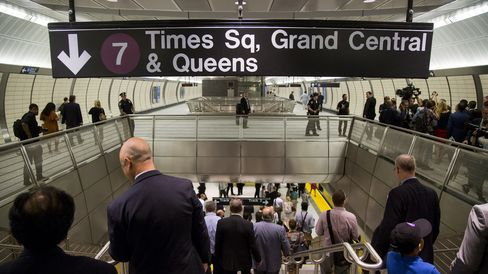 New Hudson Yards station the No. 7 Line