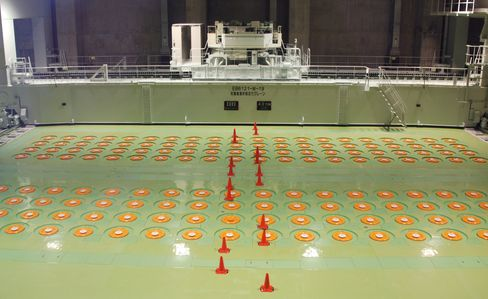 Radioactive waste storage inside the Rokkasho Nuclear Fuel Reprocessing Plant