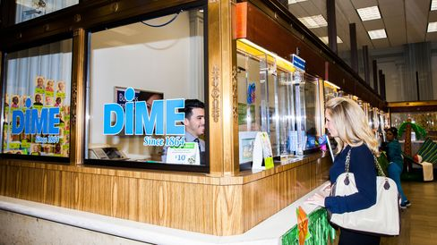 A customer at Dime's headquarters in Williamsburg.