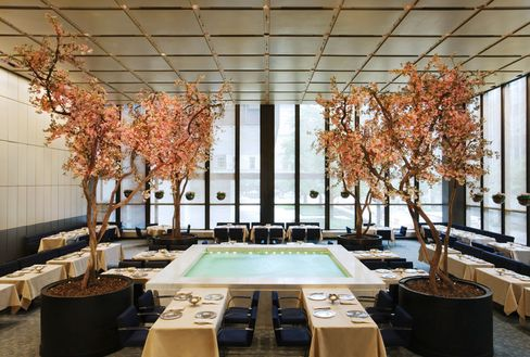 The Four Seasons' Pool Room, dressed for spring.