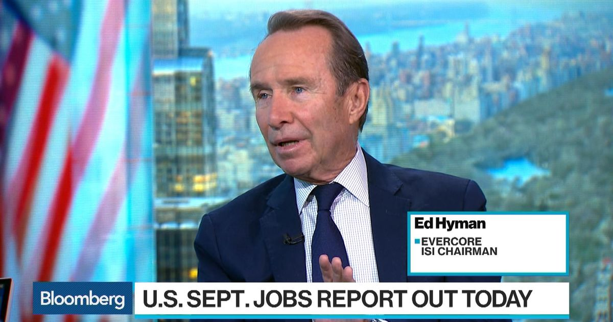 Ed Hyman: U.S. Economy Is Coming Back From Storms – Bloomberg