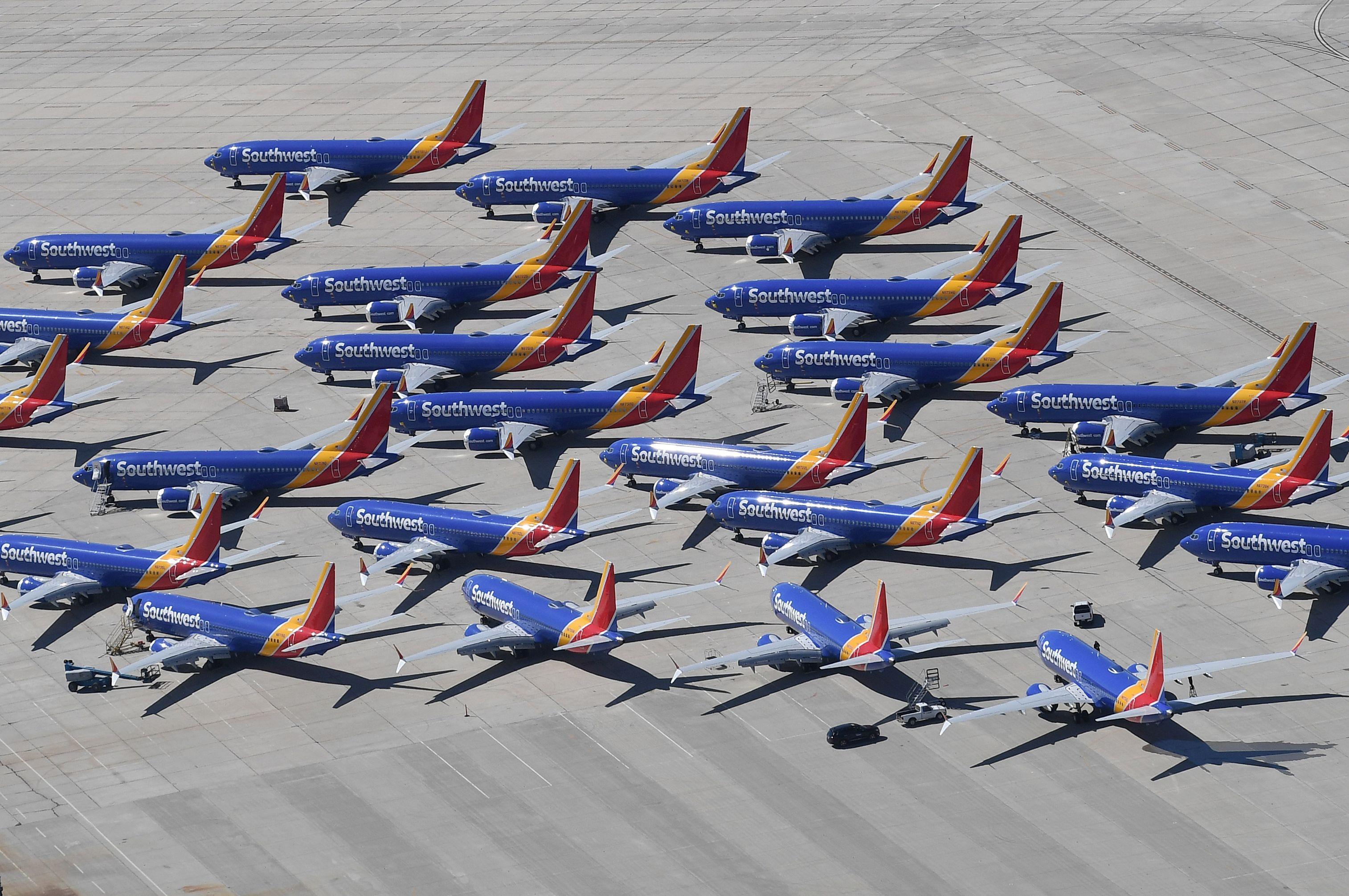Resultado de imagen para Southwest Airlines Boeing 737 MAX grounded