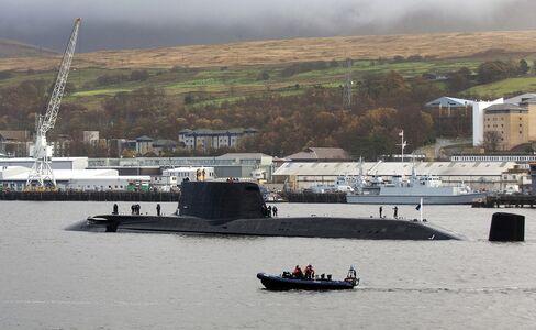 A Nuclear Submarine Sails in Gare Loch