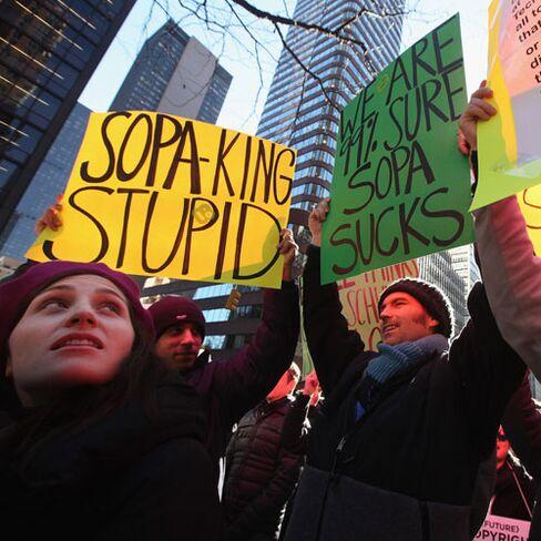 U.S. Lawmakers Abandon Anti-Piracy Bills as Google Protests