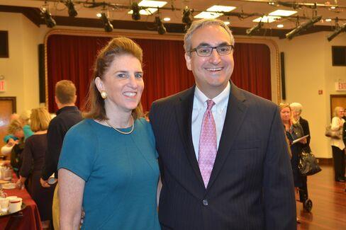 Amabel James and Warren Scharf, executive director of Lenox Hill Neighborhood House