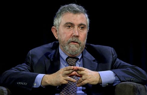 Krugman Says Fed Should Allow Inflation to Rise Above 2% Goal