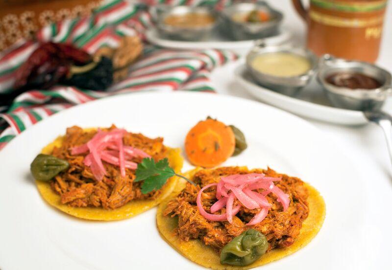 Mestizo's cochinita pibil tacos.