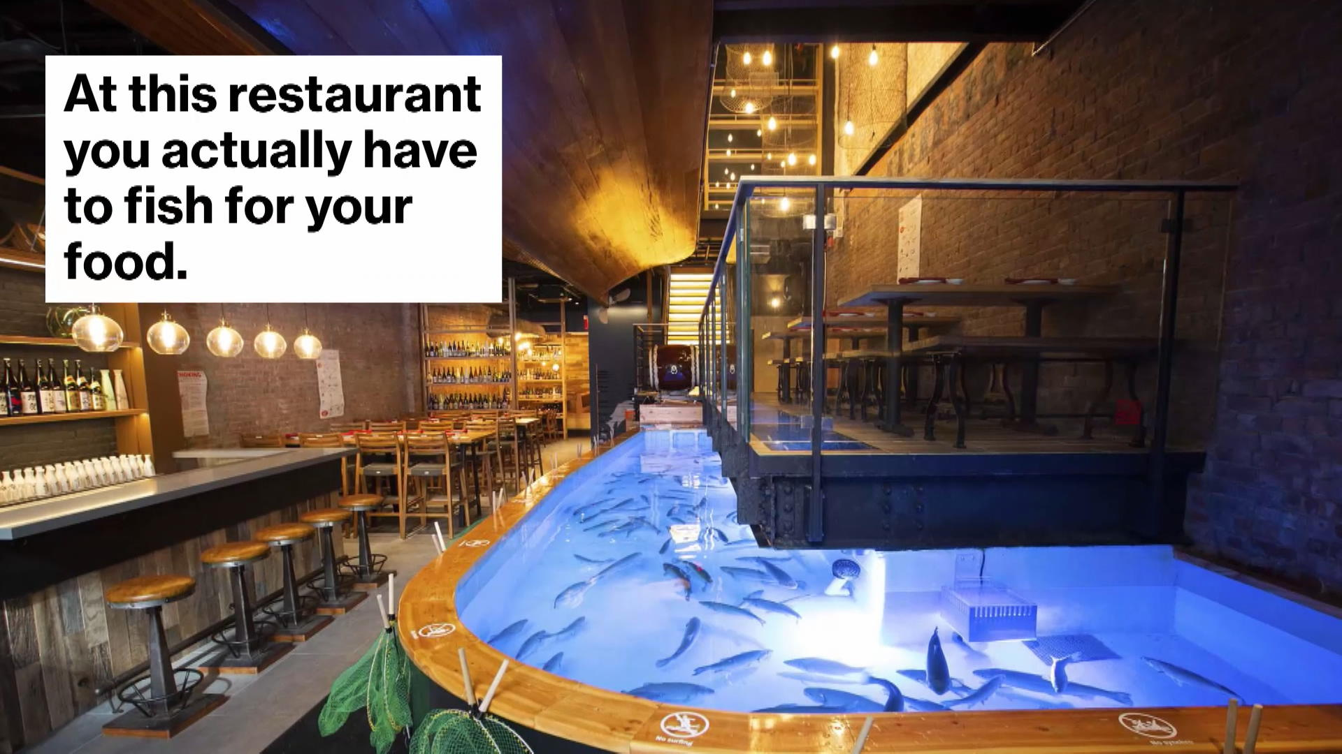 Inside Zauo New York The Restaurant Where You Fish Your