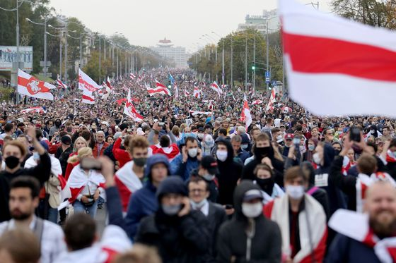 Belarus Protests Continue as Macron Says Lukashenko Must Go