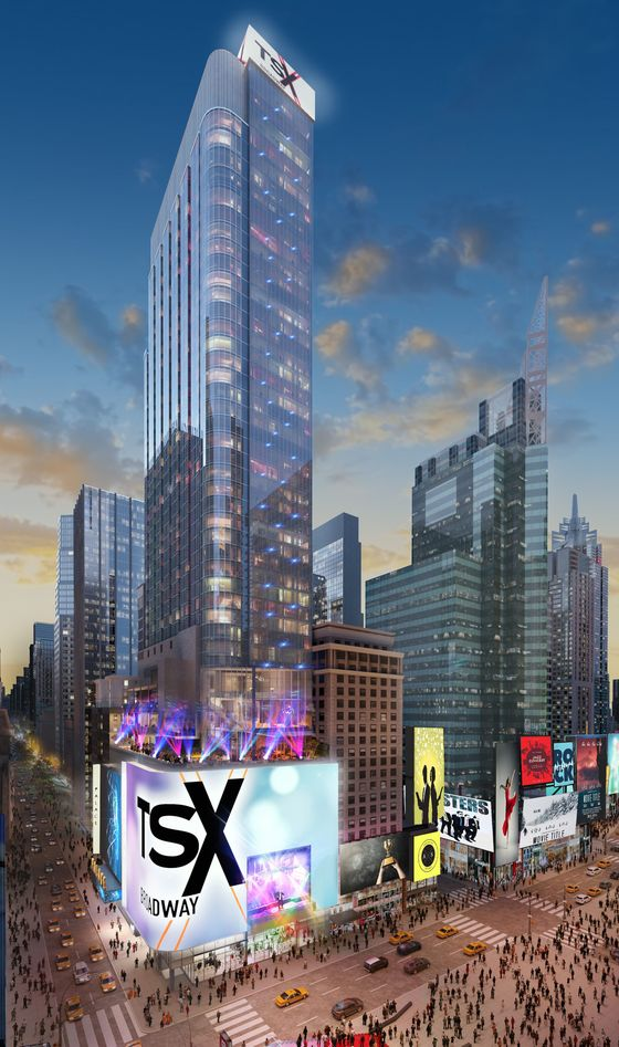 UBS Corrals Mega-Rich Clients to Bet on Times Square Skyscraper