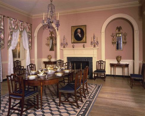 The Baltimore Dining Room, Circa 1810.