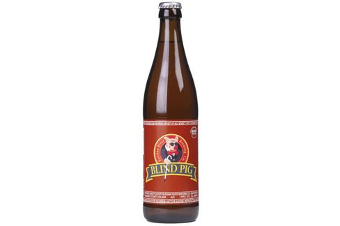 A bottle of Blind Pig from Russian River Brewing Co.