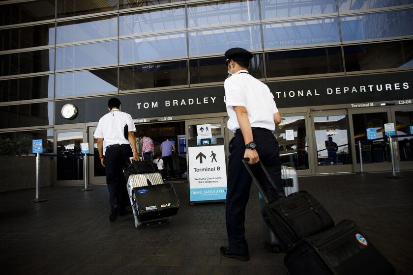 Traveler Covid-19 Screening At LAX Airport