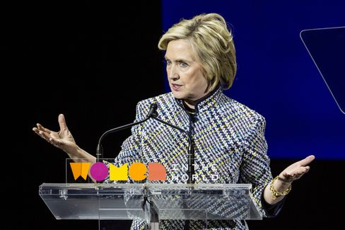 Hillary Clinton speaks at the Women in the World Summit on April 23, 2015 in New York City.