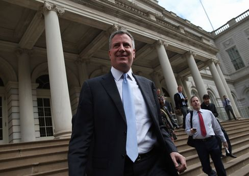 Incoming New York Mayor Bill De Blasio