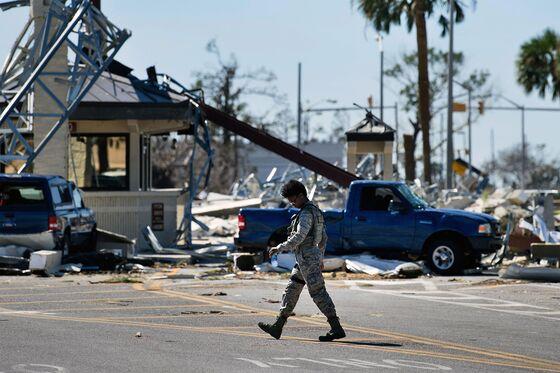Trump Blames Democrats for Storm-Damaged Florida Air Force Base