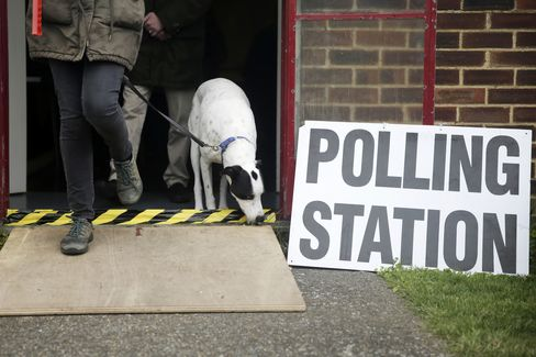 U.K. Voters Head To The Polls At U.K.'s General Election