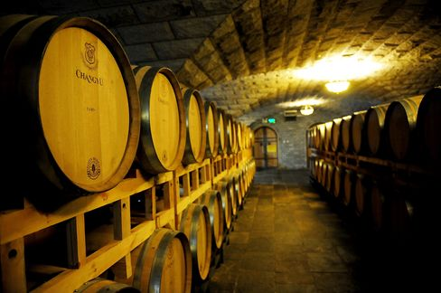Barrels at the Chateau Changyu-Castel, China's oldest winery, started in 1892.