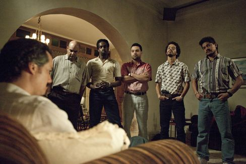 """A scene from the Pablo Escobar drama """"Narcos."""""""