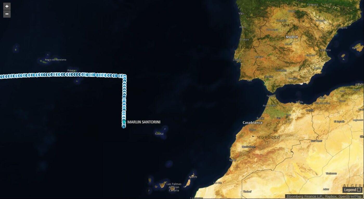 Suezmax Marlin Santorini