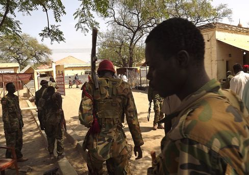 South Sudan Army Soldiers