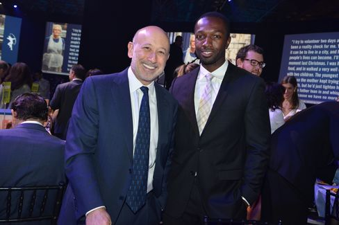 Lloyd Blankfein with Jamie Hector of