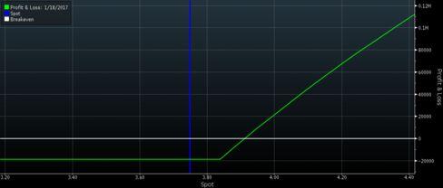 Payout Graph on 1-Year Saudi Riyal Puts