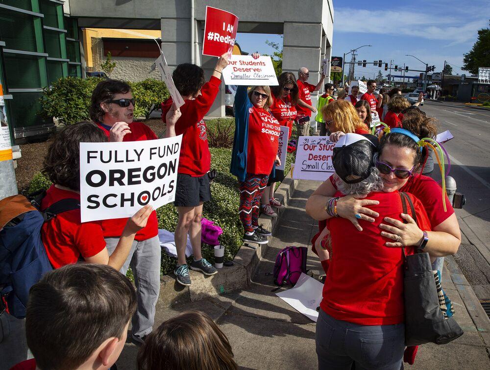 Oregon Teachers Walk Out to Demand More School Funding