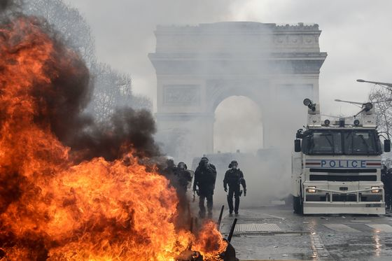 France Will Ban 'Risky' Protests After Champs-Elysees Riots