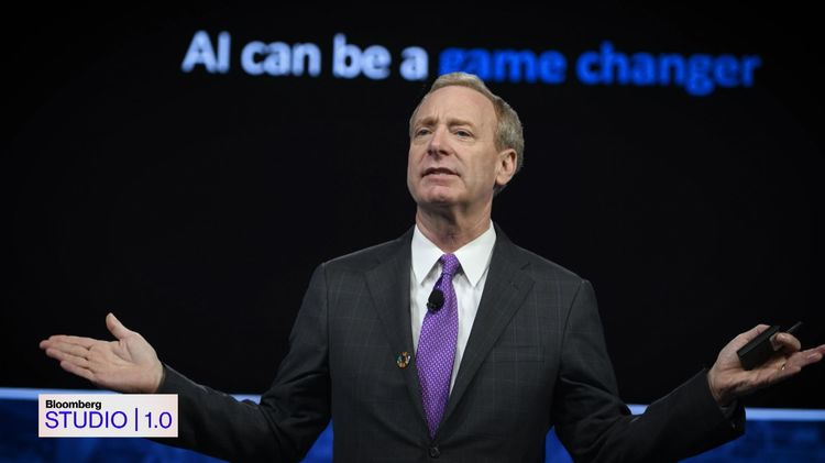 relates to Microsoft President Brad Smith on 'Bloomberg Studio 1.0'