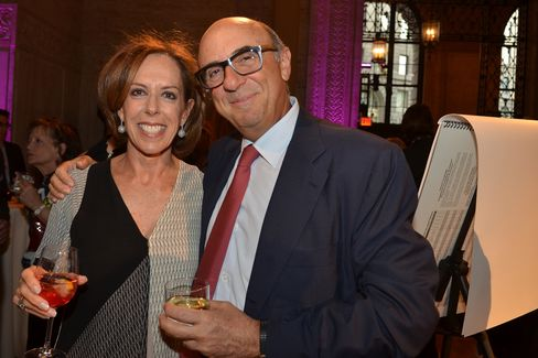 Jane Sadaka, co-chairman of the Drawing Center, and Ned Sadaka, president of Para Partners. Photographer: Amanda Gordon/Bloomberg
