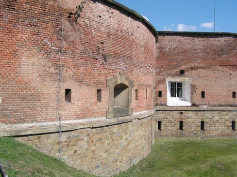 €450,000: Built in 1853, the Fort of Olomouc is surrounded by a moat.