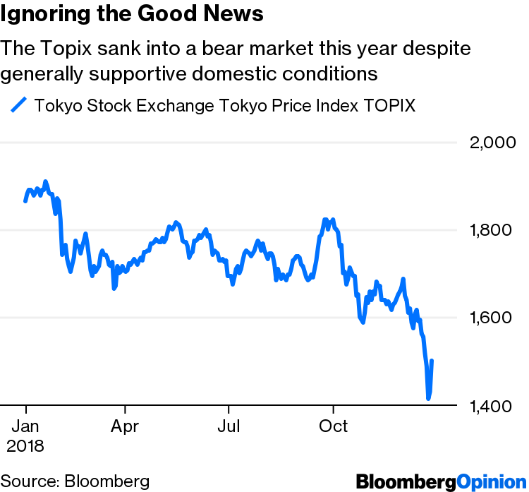 Japan Stocks Can Be the Haven in a Bleak World - Bloomberg