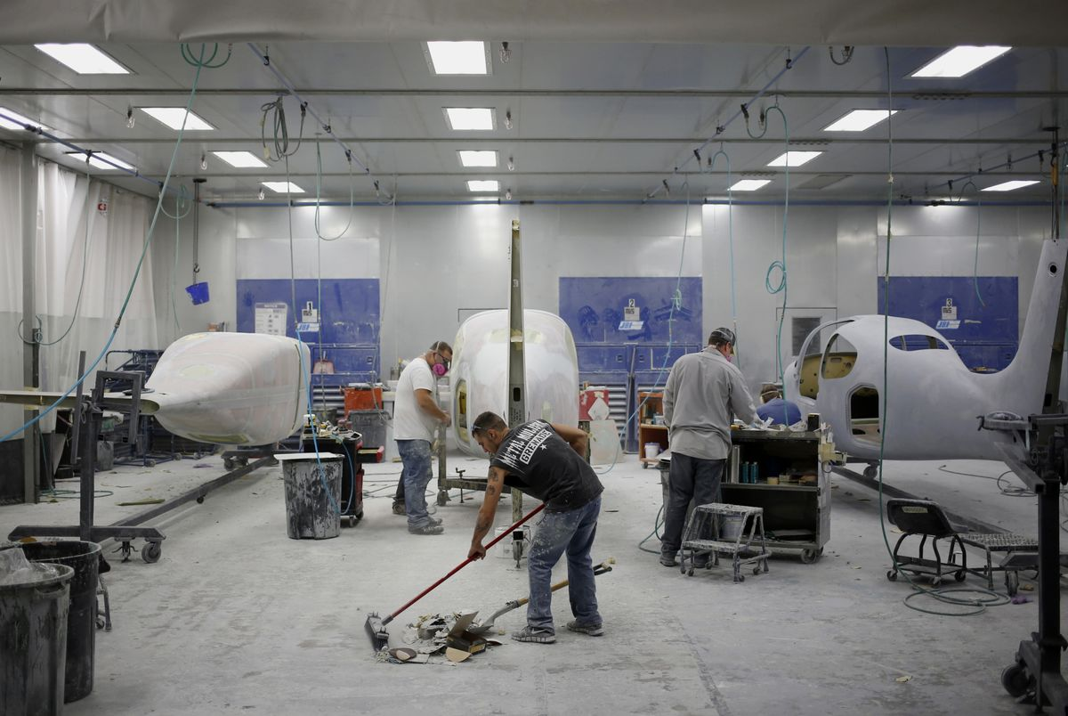 Operations Inside The Cirrus Aircraft Manufacturing Facility