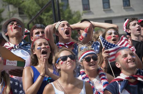Fans Watch U.S. Soccer Team Play Belgium