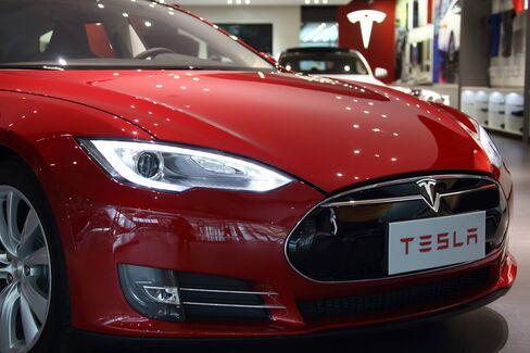 A Tesla Motors Inc. Model S.