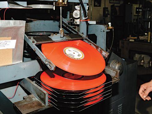 4. Freshly pressed vinyl LPs.
