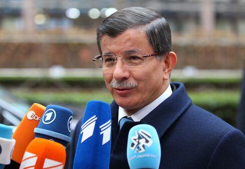 Ahmet Davutoglu in Brussels.