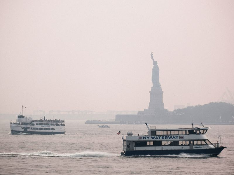 Haze From Western Wildfires Visible In New York Skies
