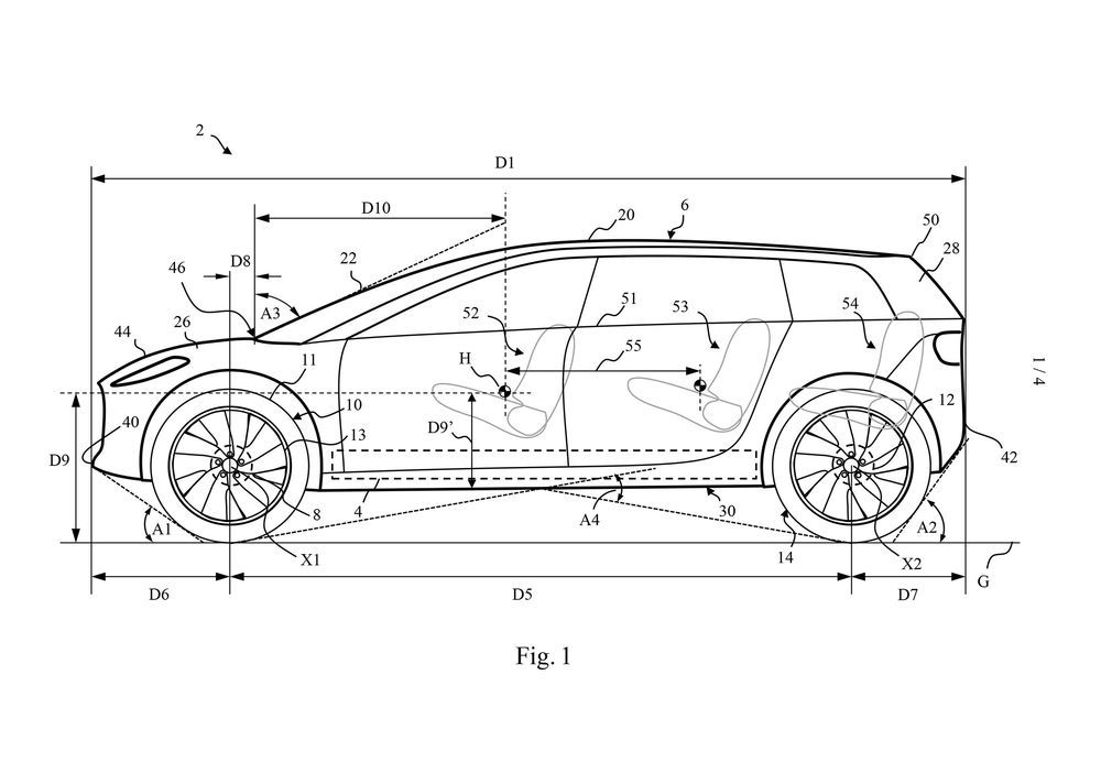 Dyson Car Patent Drawings