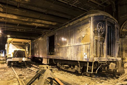 FDR's abandoned train, which is stuck—seemingly forever—underneath the hotel.