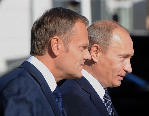 Donald Tusk and Vladimir Putin
