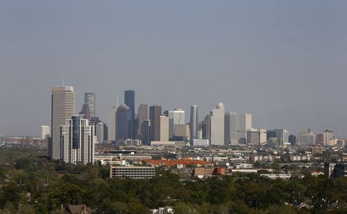 Buildings Stand on the Skyline of Houston